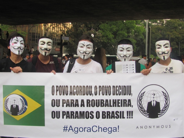 An anti corruption protest in Brazil