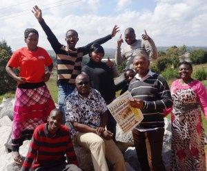 Twanga Swali team with Simon Mkina (seated with specs), Daraja's Executive Director